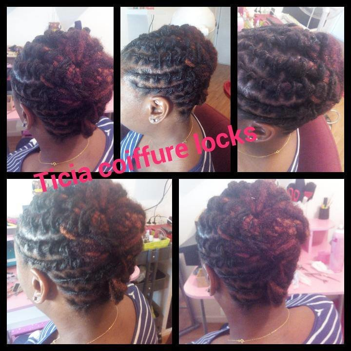 Coloration sur les points rouge + reprise de racines twists + coupe