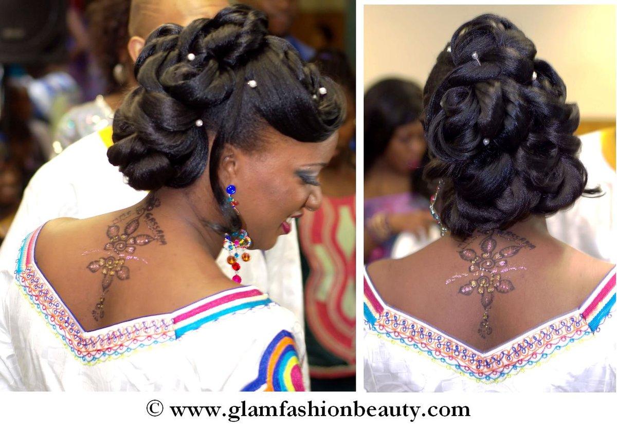 Chignon glamour inspiration r tro id es coiffure afro - Salon de coiffure afro antillais pas cher ...