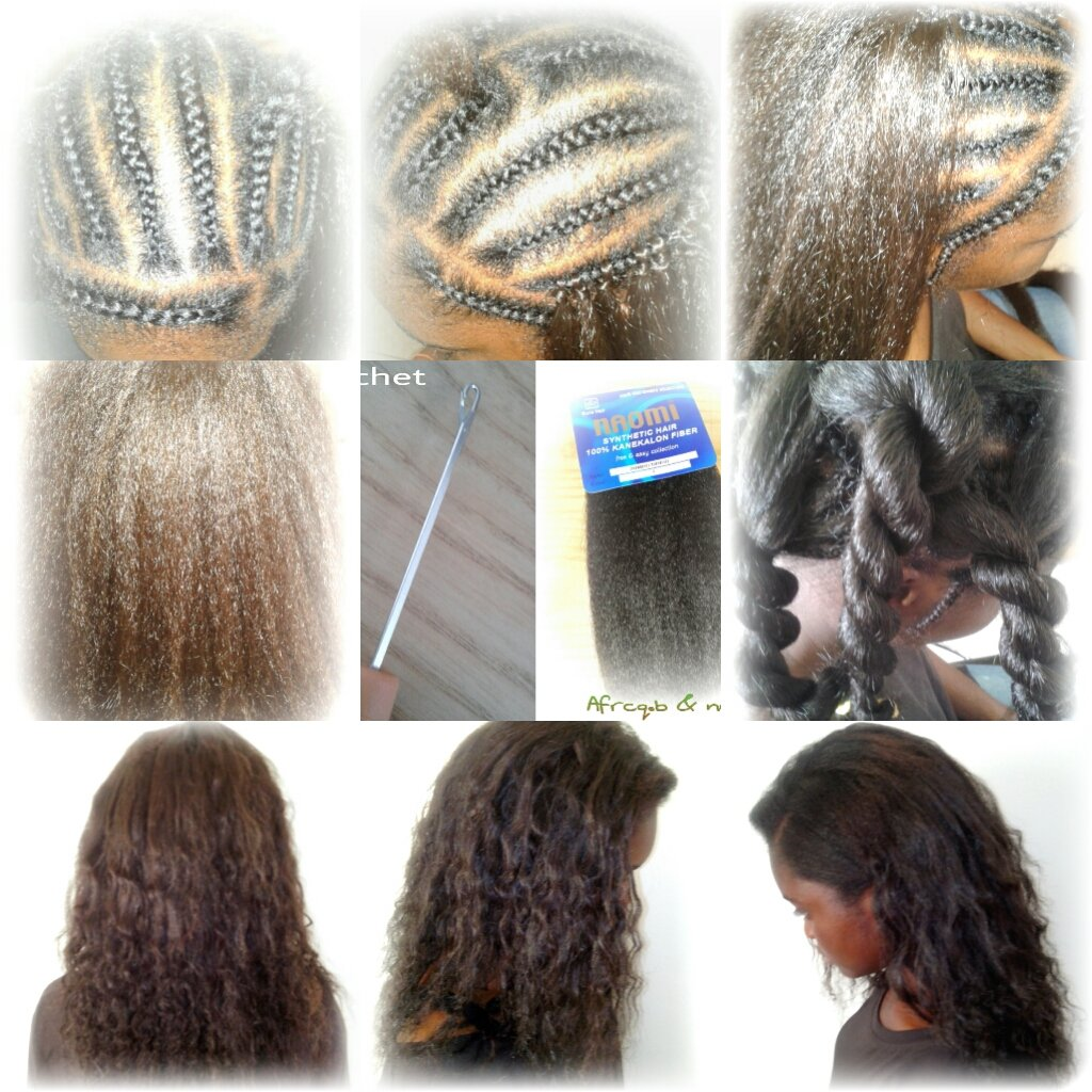 Crochet Braid Idees Coiffure Afro Tresses Vanille Tissage