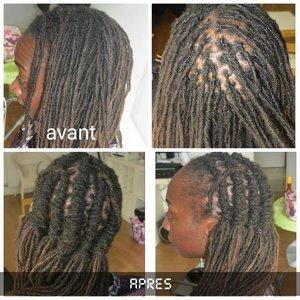 Crochet coiffure