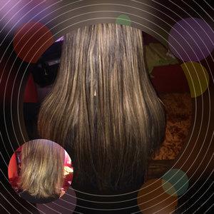 Extensions cheveux à la kératine