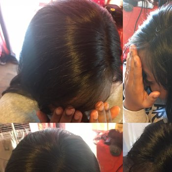 Lace frontal et tissage