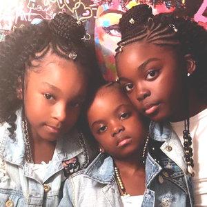 Modèle de Tresses Fulani sur petites filles
