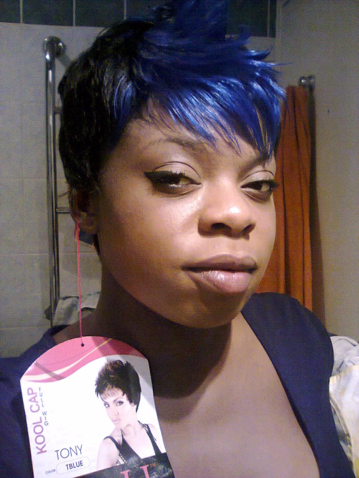 Coiffure Noir Et Bleu