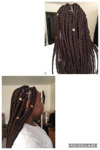 Rasta, braids longues