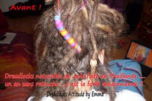 Retouche dreadlocks naturelles de Jade  au crochet
