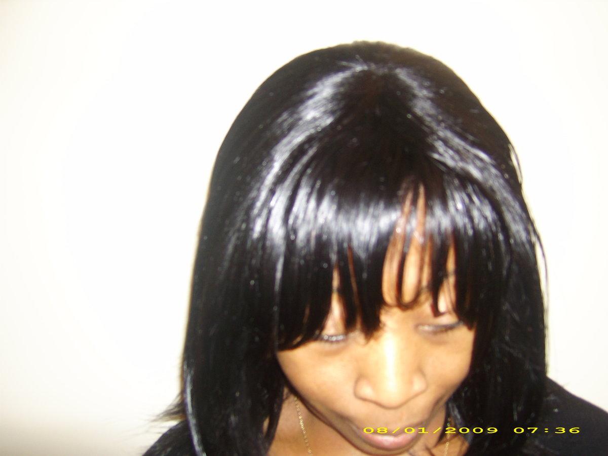 tissage demi tete avec frange et ferme id es coiffure afro tresses vanille tissage. Black Bedroom Furniture Sets. Home Design Ideas