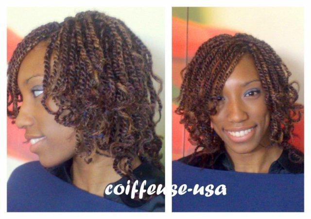 Vanille Courte Idees Coiffure Afro Tresses Vanille Tissage