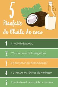5 BIENFAITS DE L'HUILE DE COCO