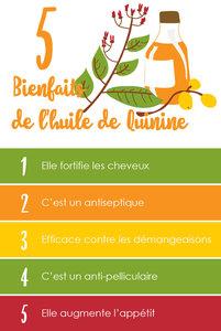 5 BIENFAITS DE L'HUILE DE QUININE