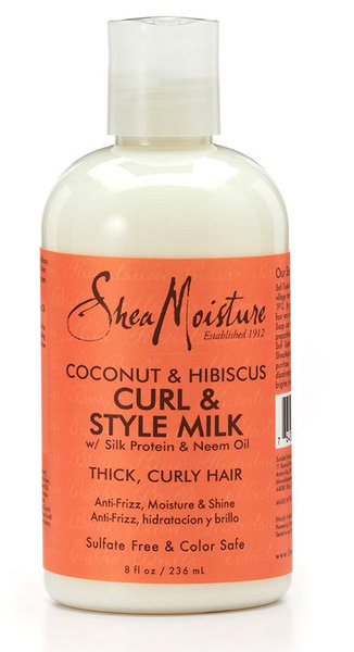 Shea Moisture Coconut & Hibiscus Curls and style milk