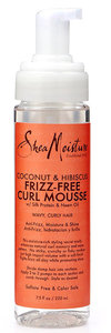 Shea Moisture Coconut & Hibiscus frizz free curl mousse
